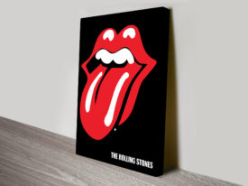 Rolling Stones Art Canvas Print