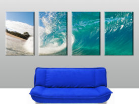 Rolling Waves 4 Panel split Canvas