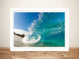 Rolling Waves Framed Surfing Wall Art