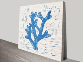 Sea Creature Blue Coral Artwork | Print