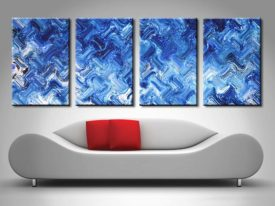 Shimmering Variation 4 Panel Wall Canvas by Xavier Alexander