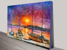 Ships of Freedom buy leonid afremov canvas print