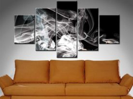 Smoke Composition 5 Panel Art