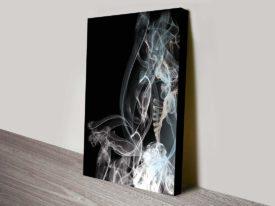Smoke Composition contemporary wall canvas print