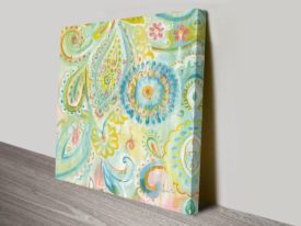 Spring Dream Paisley XII Art Print on Canvas