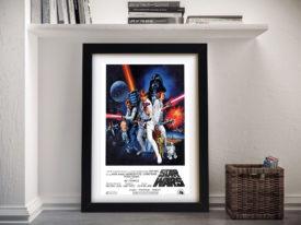 Star Wars Movie Poster Framed Wall Art
