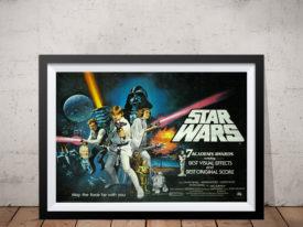 Star Wars Movie Poster Framed Art Australia