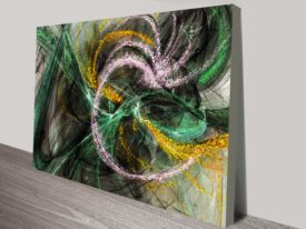 Stardust Abstract Canvas Wall Art