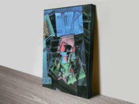 Still Life before an Open Window Juan Gris Abstract Canvas Wall Art