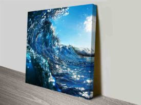 Breaking Waves Series No. 1 Ocean Seascape Ready to Hang Canvas