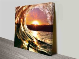 Breaking Waves Series No. 13 Perfect Wave Square Photographic Canvas