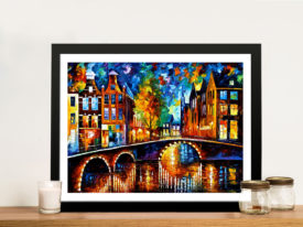 The Bridges of Amsterdam Leonid Afremov Wall Art Picture Australia