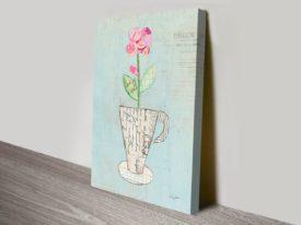 Teacup Floral III Canvas Art