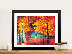 Autumn of Passion Leonid afremov Framed Wall Art