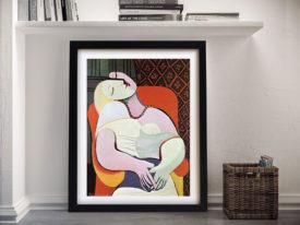 The Dream by Pablo Picasso Framed Artwork