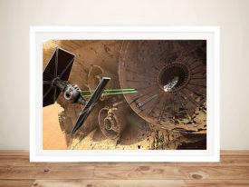 The Force Awakens scene Framed Wall Art