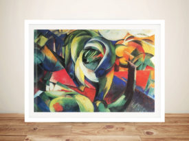 The Mandrill by Franz Marc Abstract Mounted Art