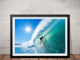 The Ride surfing print Framed Wall Art