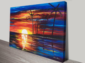 Tropical Fiesta Afremov Canvas Art