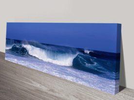 Waves panoramic canvas print