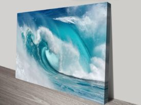 When the ocean turns into blue fire Canvas Art