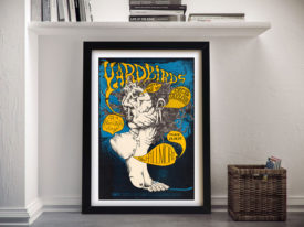 Yardbirds Fillmore Framed Poster Print