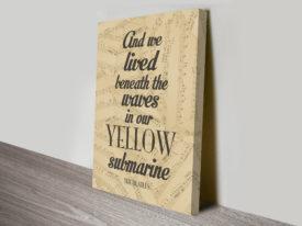 Yellow Submarine Art Beatles Art
