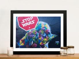 Yoda Stop wars Framed Wall Art