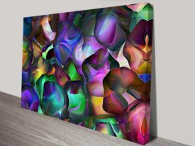 Abstract Incapsulated Cells Abstract Wall Art Print