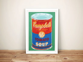 Andy Warhol Campbells colored Soup can Framed Wall Art