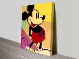 andy warhol mickey mouse Wall Art Print