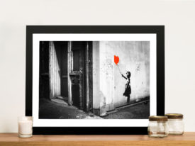 banksy balloon-girl-canvas print Framed Wall Art