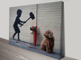 banksy hammer boy artwork