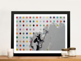 banksy hirst Framed Wall Art
