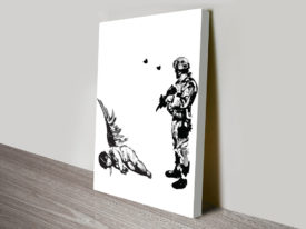 banksy soldier angel killed cupid