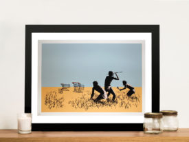 banksy trolley hunters print Framed Wall Art