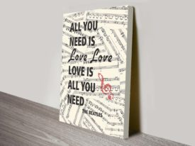 beatles all you need is love lyrics artwork