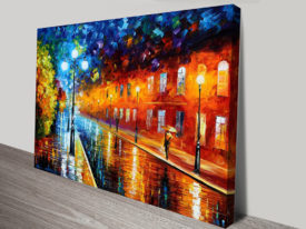 Blue Lights Leonid Afremov Print on Canvas Australia