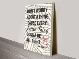 bob marley lyrics canvas print