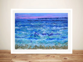 By the beautiful sea Abstract Framed Wall Art