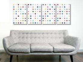 Damien Hirst Xylosidase 4 Panel Split Canvas