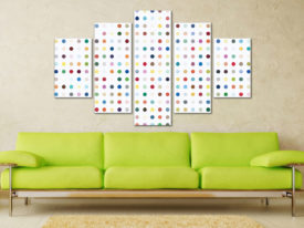 Damien Hirst Xylosidase Five Panel Cheap Canvas Printing