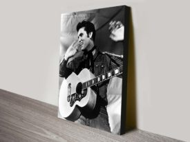 elvis pop art canvas print