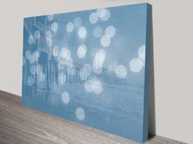 Jennette's Pier Abstract Landscape Canvas Art Print