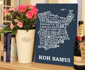 koh samui word map art
