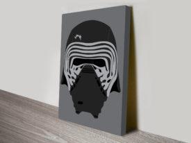 Kylo Helmet Wall Star Wars Art