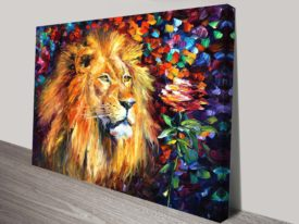 lion of zion leonid afremov art print