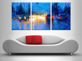 Buy Market Street Triptych Art by Iris Scott
