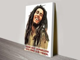 Bob marley quote art canvas prints