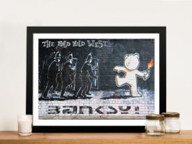 Mild mild west Banksy Framed Wall Art Print